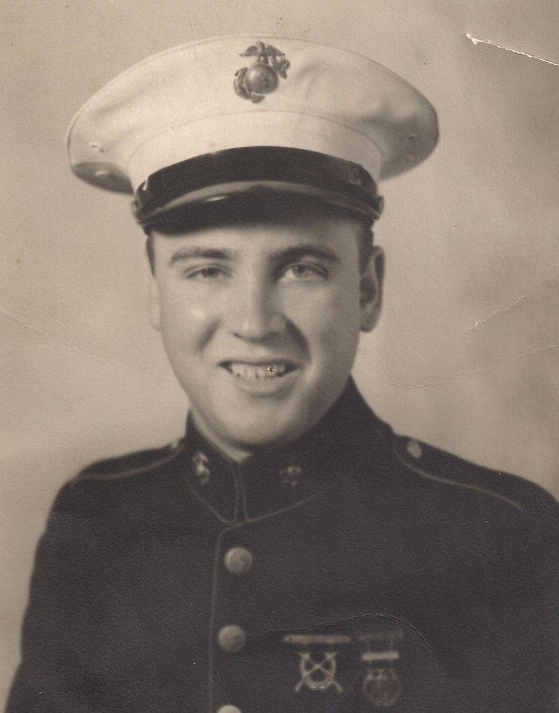Robert F. Lee in Boot Camp, 1942